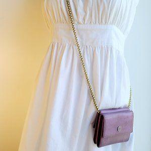 Chanel Purple Calfskin CC Bifold Wallet(SOLD)